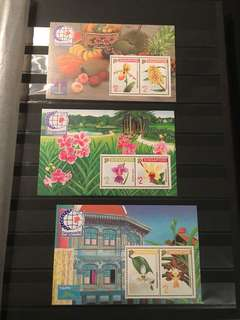 1995 orchids series mint MS stamps