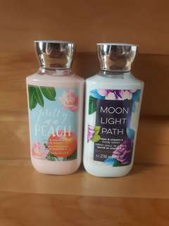 Bath and Body Works body lotions