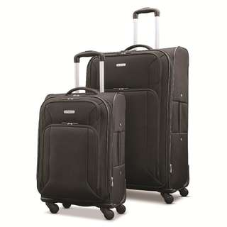 """Samsonite Victory 2 Piece Nested Softside Set 21"""" 29"""" 21 Inch 29 Inch EXPANDABLE Suitcase 4 Wheeled Wheel Suitcase Luggage Business Travel Bag Black Only"""