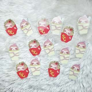 Sloo Fastfood Clear Stickers | Sloodle & Co.