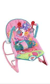~Ready stocked~ Fisher-Price Infant-to-Toddler Rocker, Pink