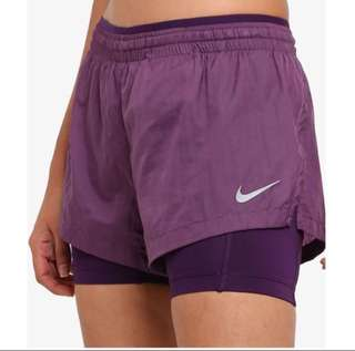 NWT Nike Size L Elevate Women's 2-in-1 Running Shorts UK12