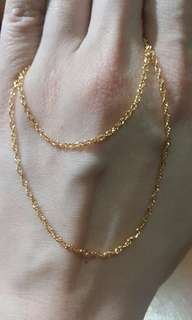 18k/黃金 yellow gold necklace