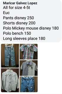 Disney, Place, Bench All authentic 4-5T