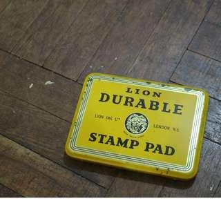 懷舊復古風 方型鐵盒 收納盒 LION DURABLE (London)