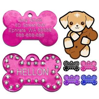 Pet Tag With Engraving Details