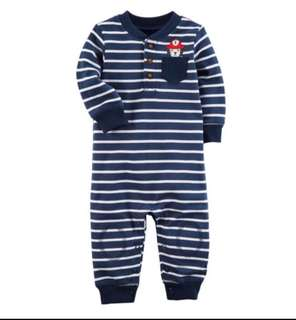 *24M* BN Carter's Fire Dog Jumpsuit For Baby Boy