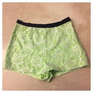 🚚 (降)Net螢光綠色短褲
