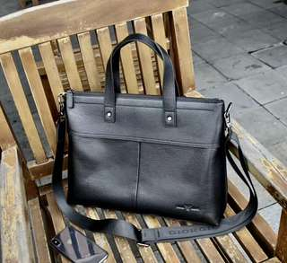 High end Black Leather Briefcase