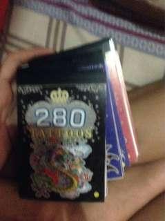 280sticker tattoos 13pcs+1free