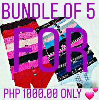 La Senza Bundle of 5 for Php 1000.00 only!!!