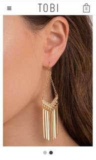 BNIB TOBI Charmed Dangle Earrings