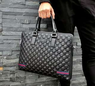Real Leather Black High end Briefcase