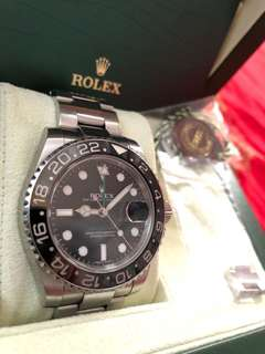 Rolex 116710 LN 綠針 G頭 888行貨