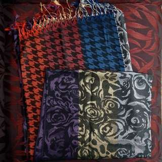Multi coloured and patterned hijab