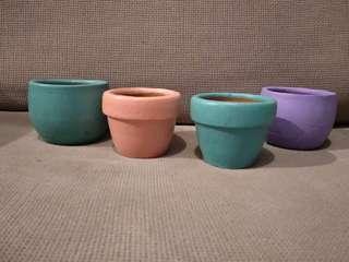 Pastel Clay Pots