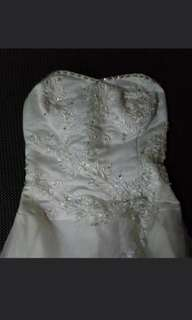 Wedding Gown/Wedding Dress/gown With Stones(long White Tube)