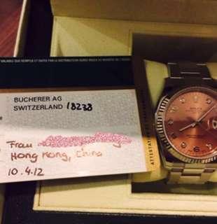 Rolex pink watch