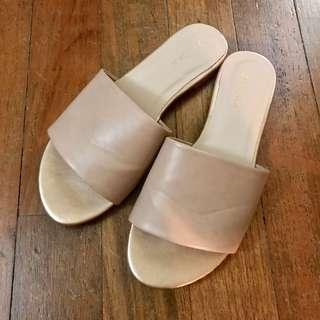 Nude & Gold Zalora Sandals