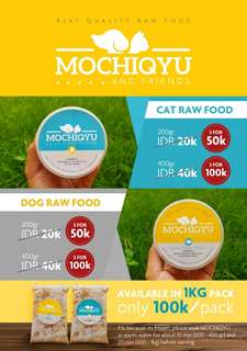Raw Food Cat and Dog ( Kucing dan Anjing )