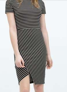 Zara Trafaluc Stripe Dress