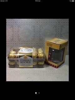 意大利金莎巧克力30粒分享禮盒+金莎玻璃隨手瓶1個