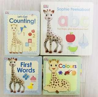 [4 for $10] Baby Board Books - Sophie La Girafe