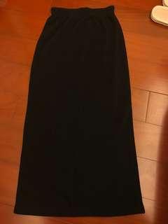 🚚 針織後開衩裙  #五十元好物