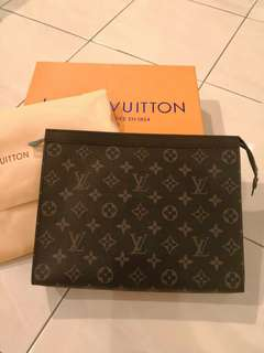 LV Black Monogram Clutch (Unisex)