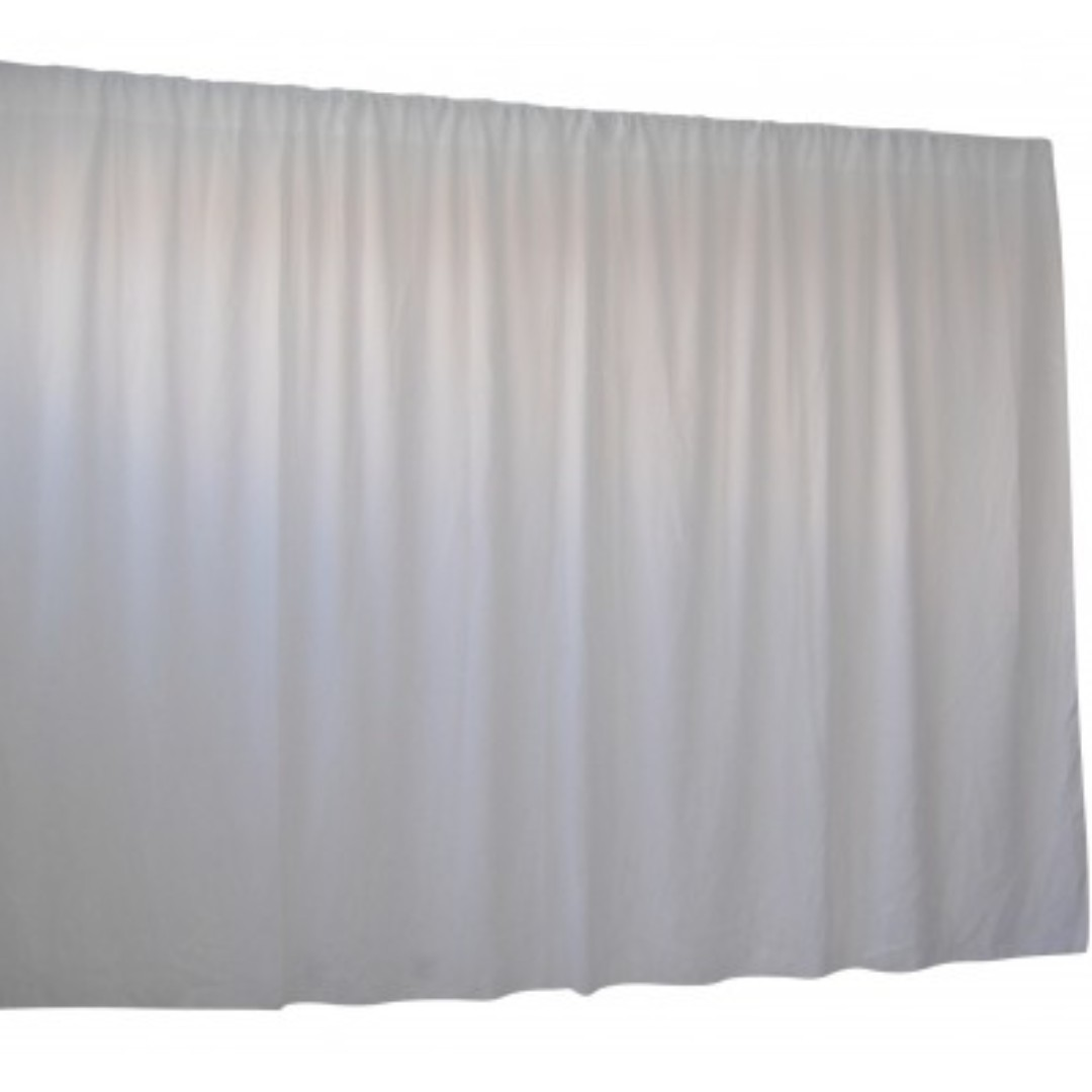2.8M X 6M White Wedding Drape Backdrop Curtain