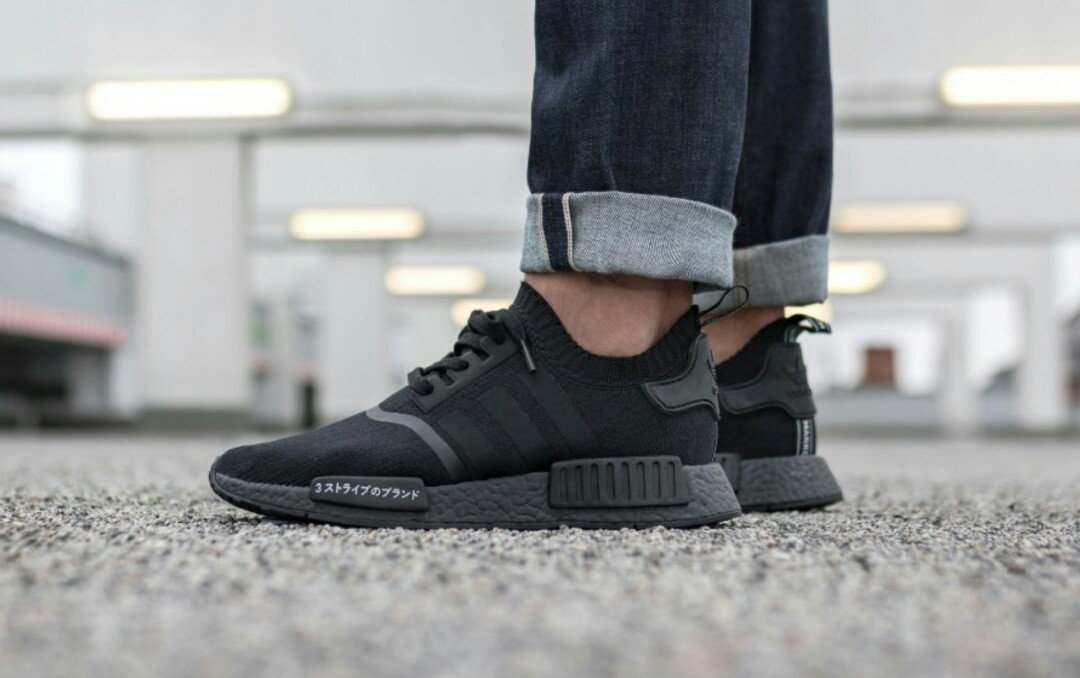 Adidas NMD R1 PK Japan Tripple Black, Men's Fashion