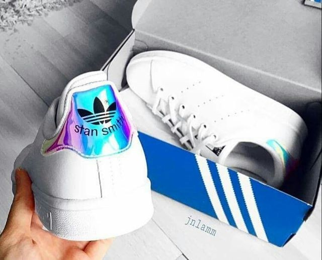 Adidas Stan Smith Holographic, Women's Fashion, Shoes, Sneakers on Carousell