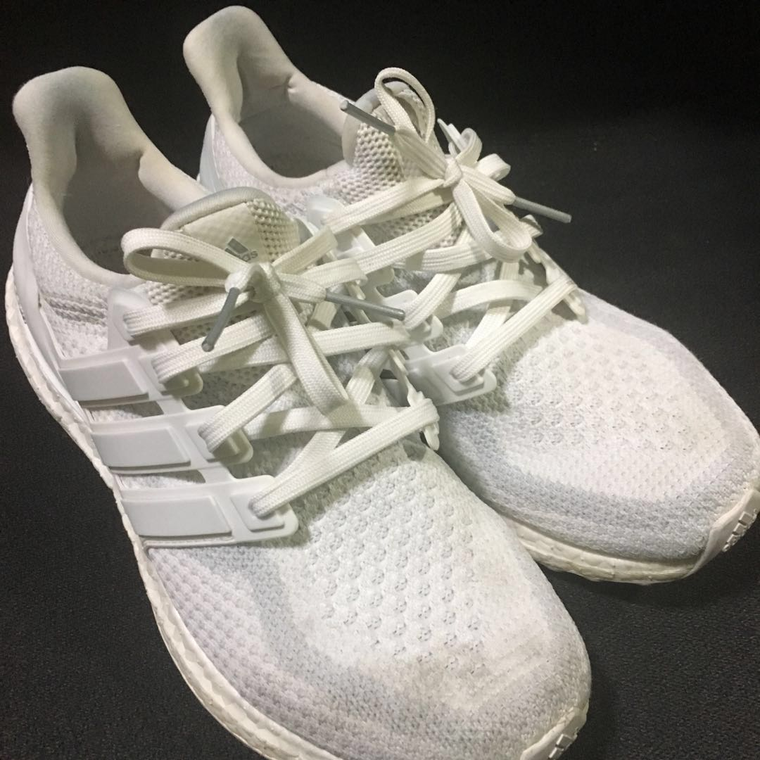 4bce86ce3fb71 Adidas Ultraboost 2.0 Triple White US8.5