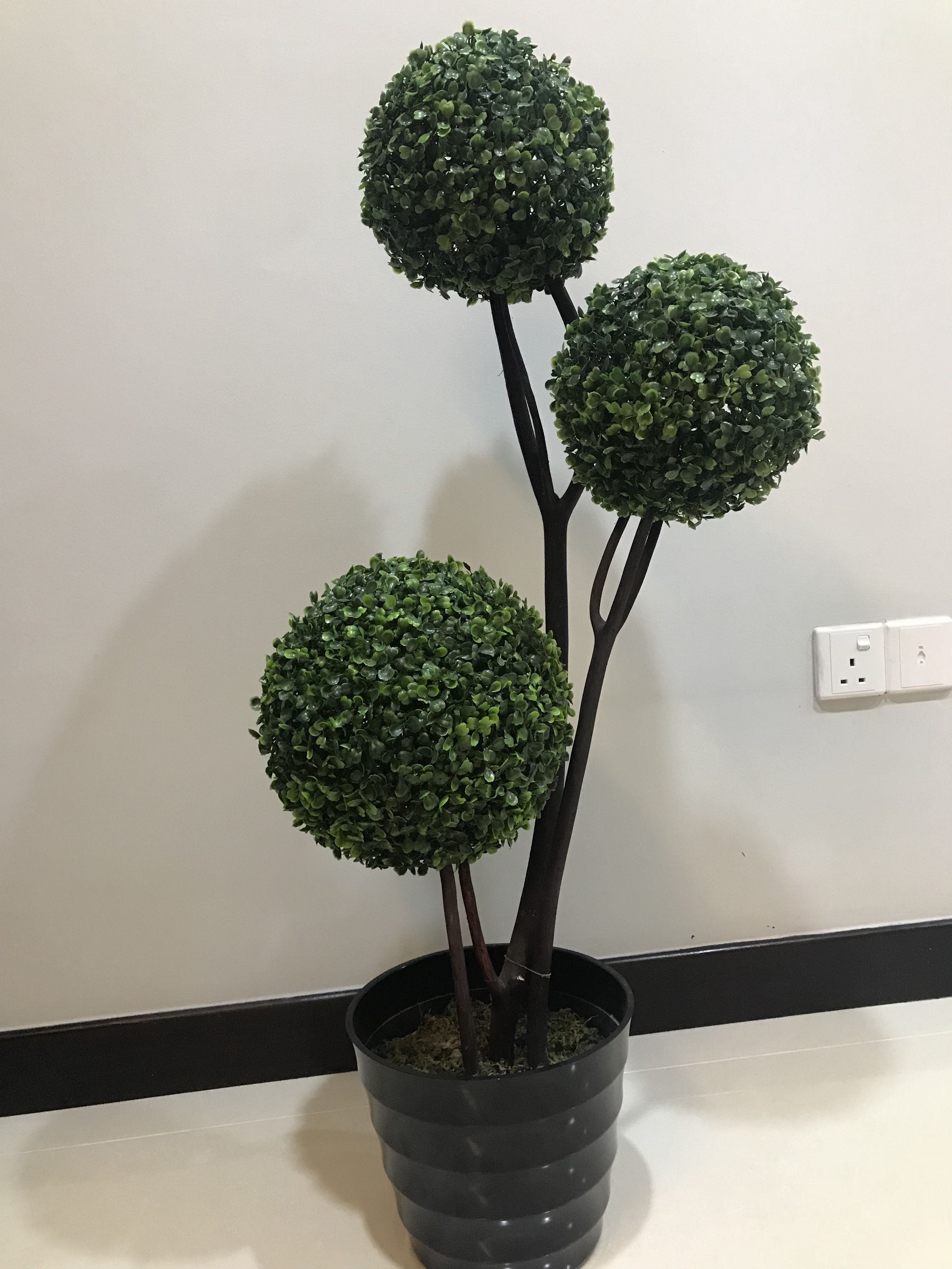 Artificial Topiary Plant Gardening Pots Planters On Carousell