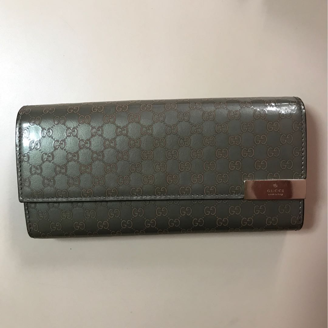 a57535f4a8a81a Authentic Gucci Dice Shiny Microguccissima Leather Chain Wallet ...