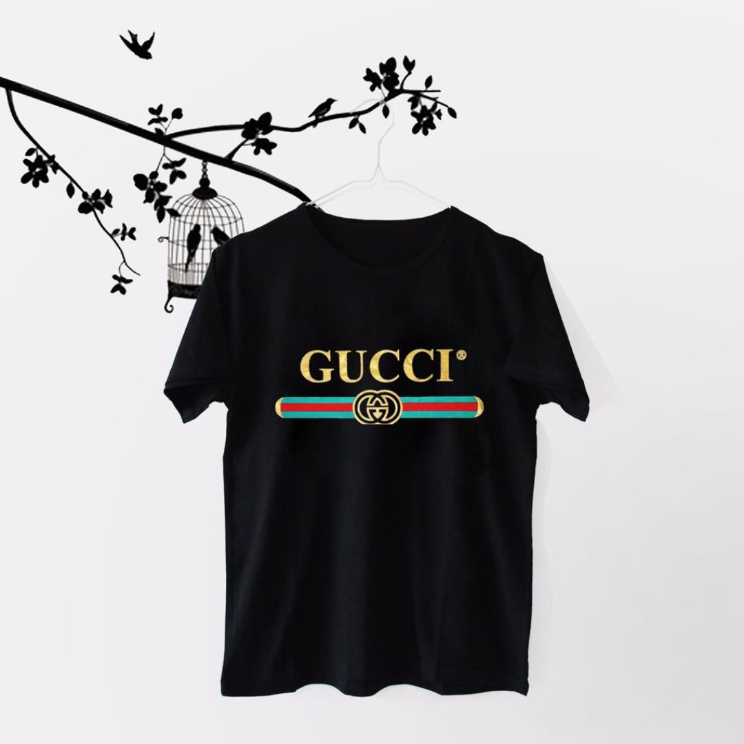 9d0ccaf519a Baju Kaos T-Shirt Tumblr Tee Atasan Wanita Cewek Gu-cci Lengan ...
