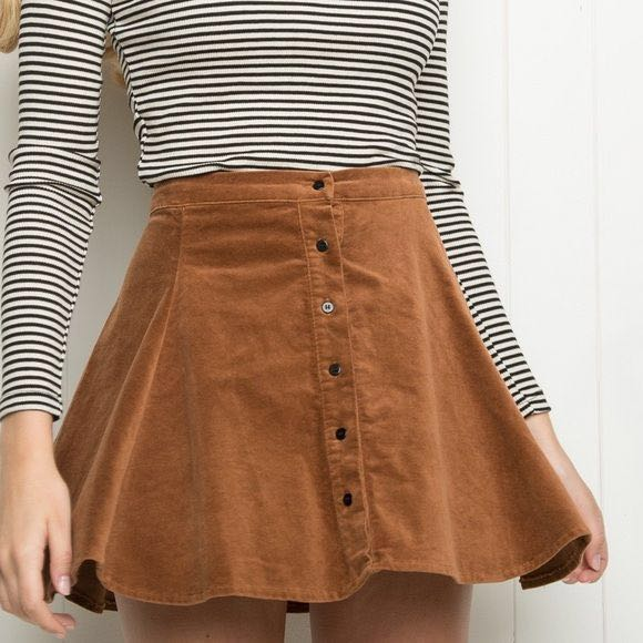 52aab192a7 Brandy Melville Brya Corduroy Skirt INSPIRED, Women's Fashion ...