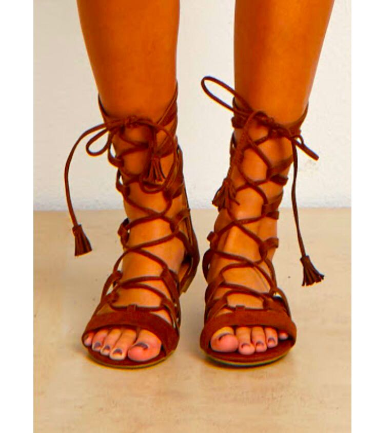 Forever 21 - Brown Faux Style Suede Gladiator Sandals 0e543d29c062