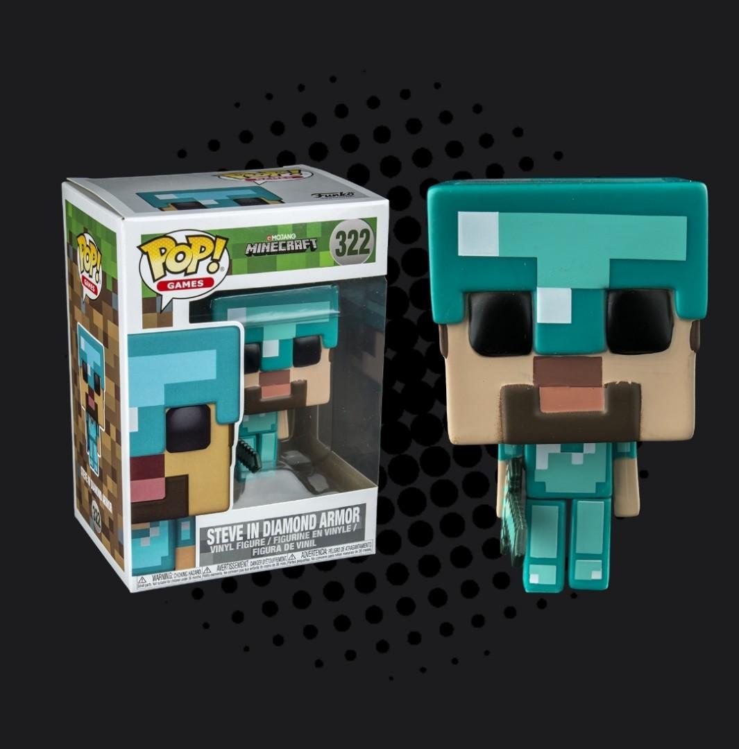 Funko Pop Minecraft Steve With Diamond Armor Toys