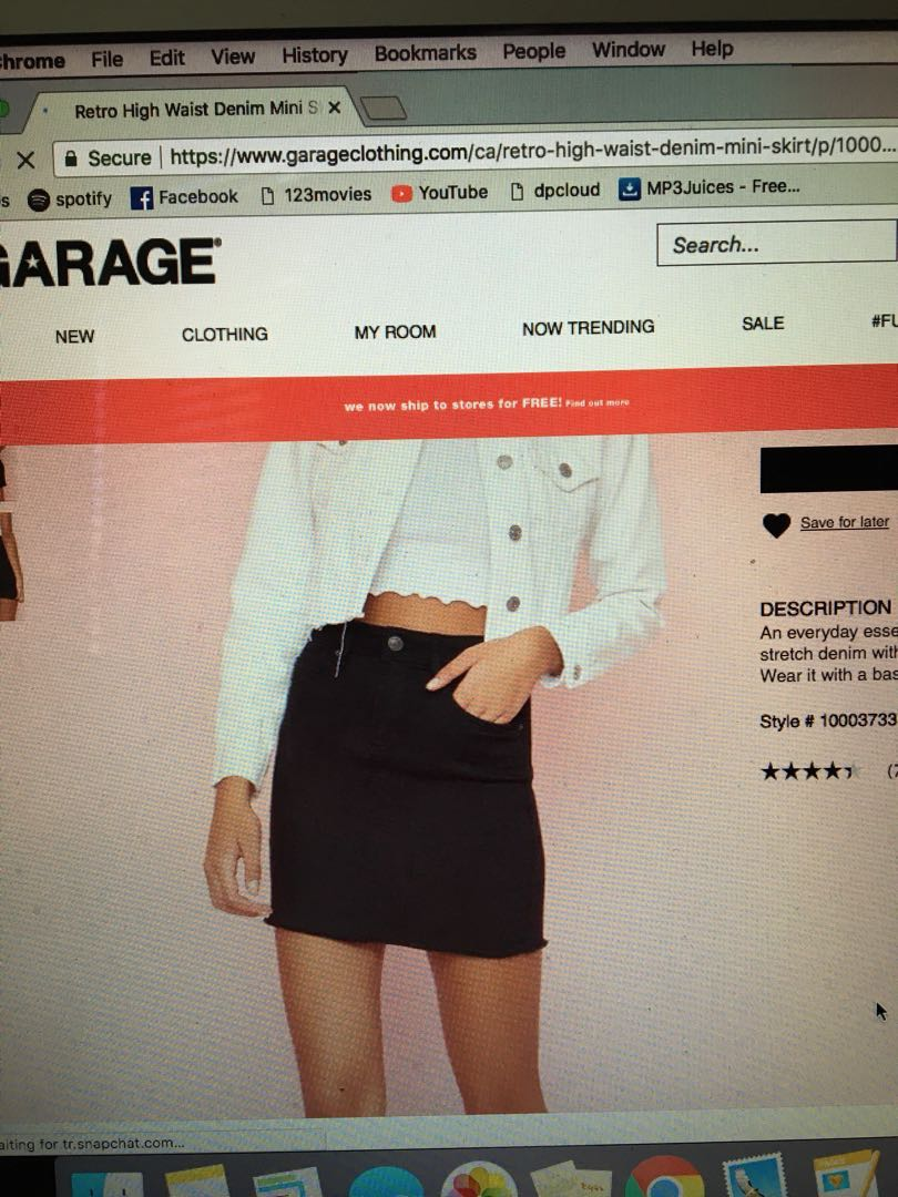garage denim mini skirt