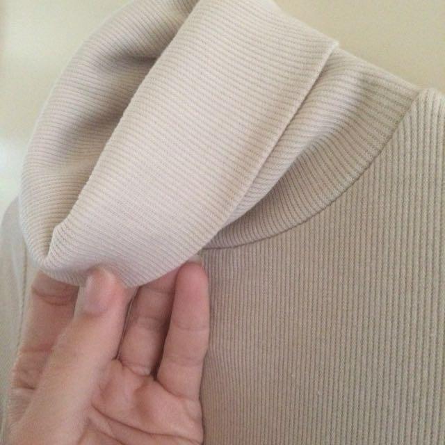 High collar knit dress 10