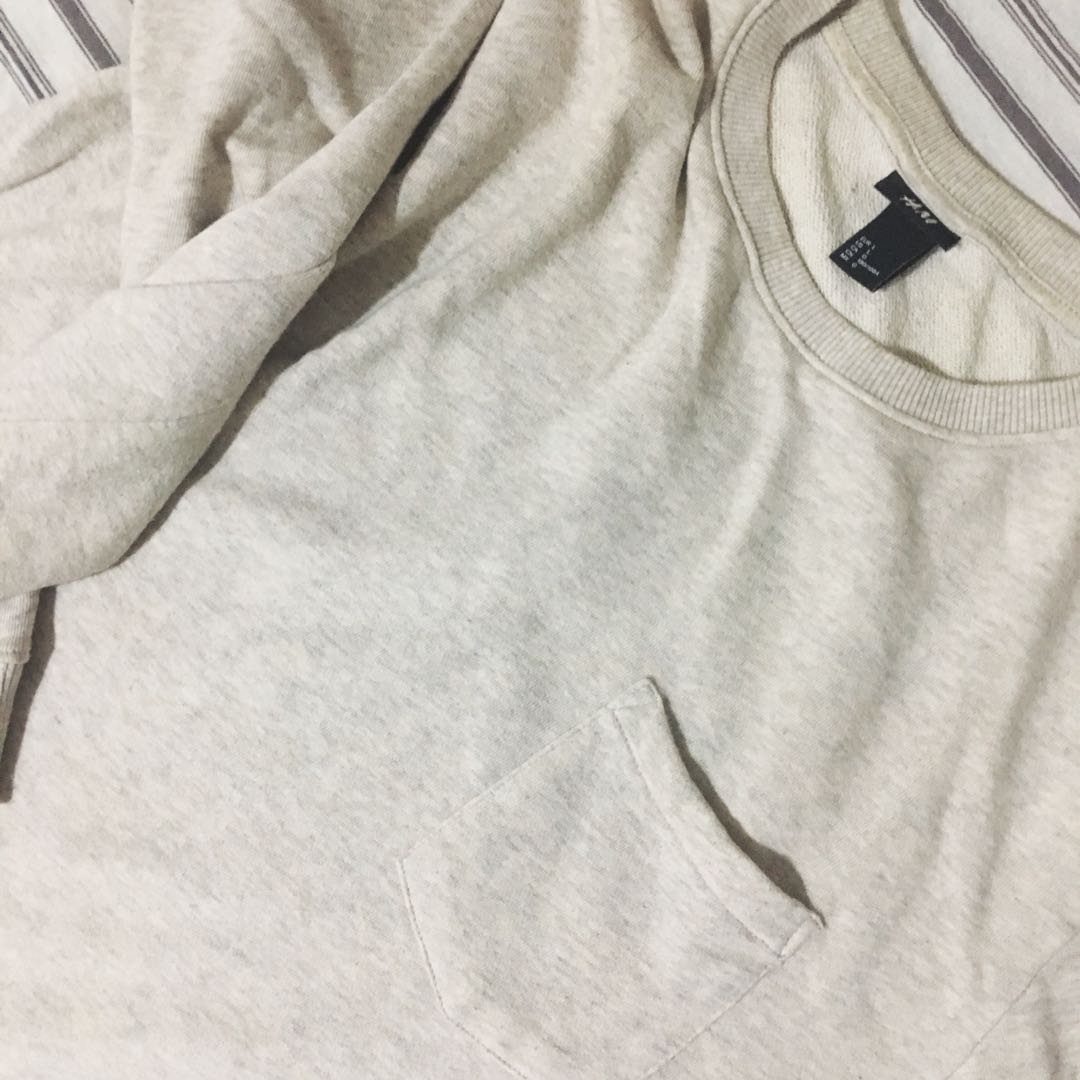 b9b4daee643f HNM cream pullover, Men's Fashion, Clothes, Tops on Carousell