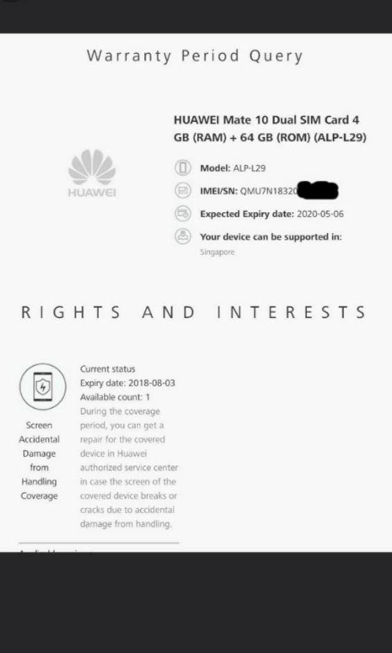 Huawei Mate 10 64GB , 4GB Ram , Dual Sim , Leica lens Smartphone