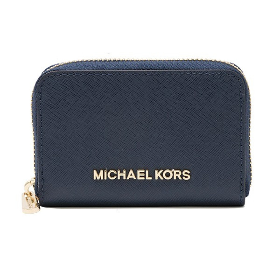 4132b22fb63b Michael Kors Jet Set Travel Zi Around Coin Case Card Holder Mini ...