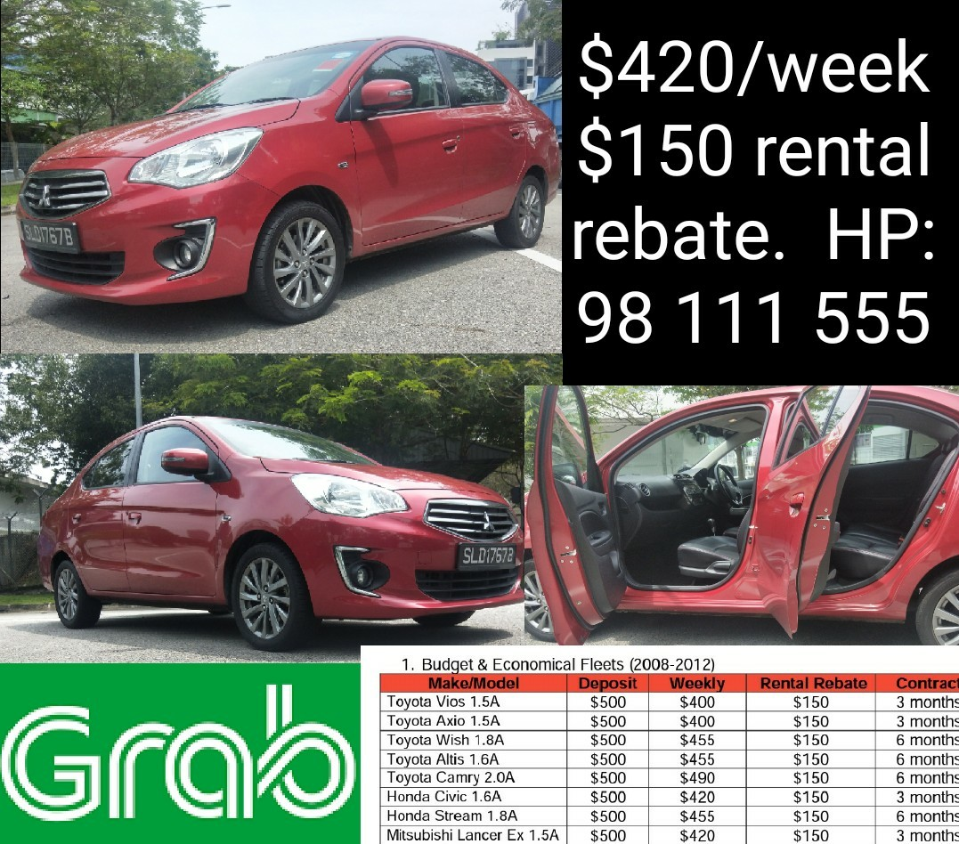 mitsubishi attrage for rent daily rental weekend rental lease rh sg carousell com