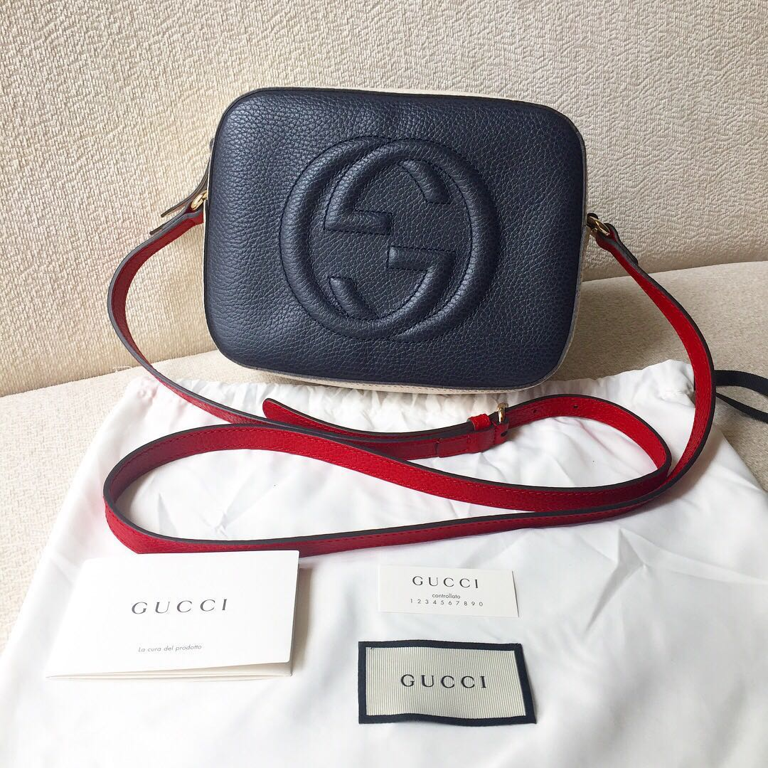 886977dcd ❗️NEW❗️AUTHENTIC GUCCI Soho Tricolour Camera Bag, Luxury, Bags ...