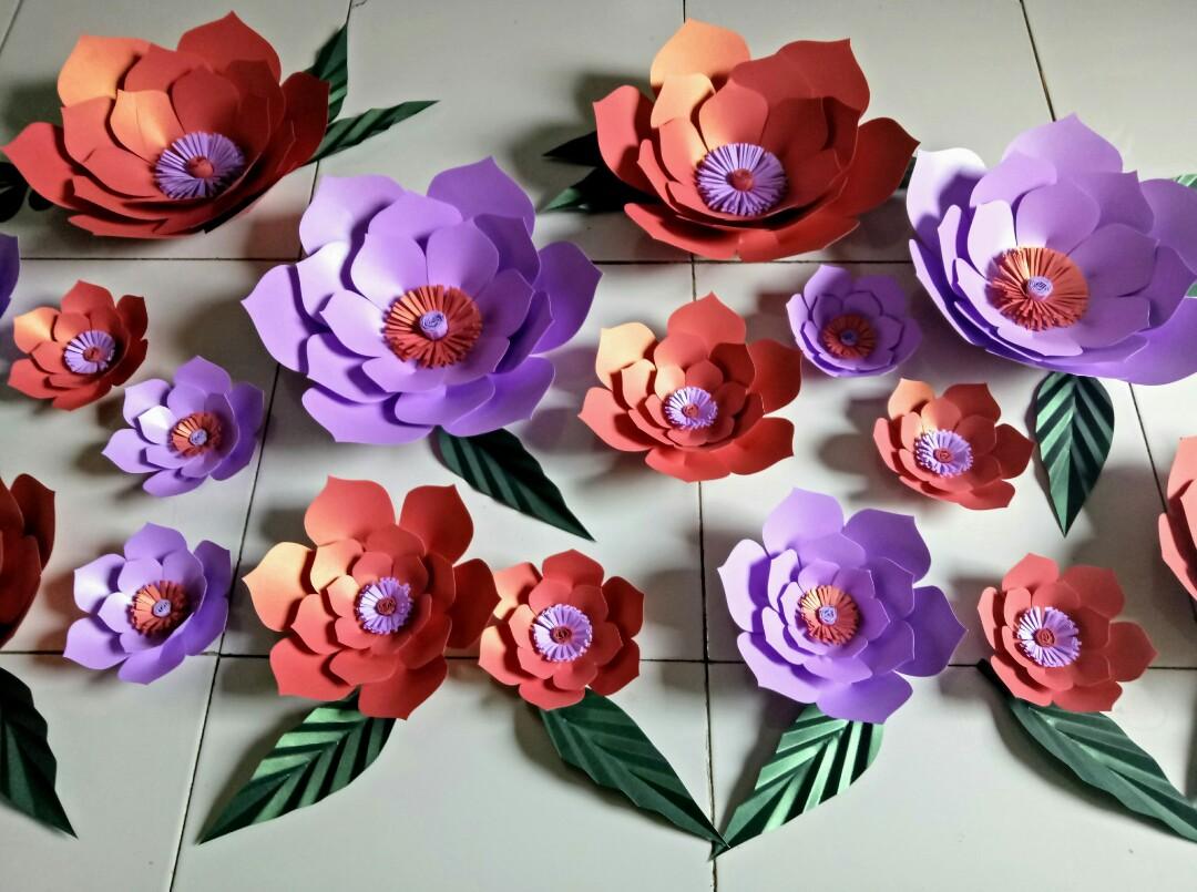 Paperflower/bunga kertas termurah isi 48.pieces