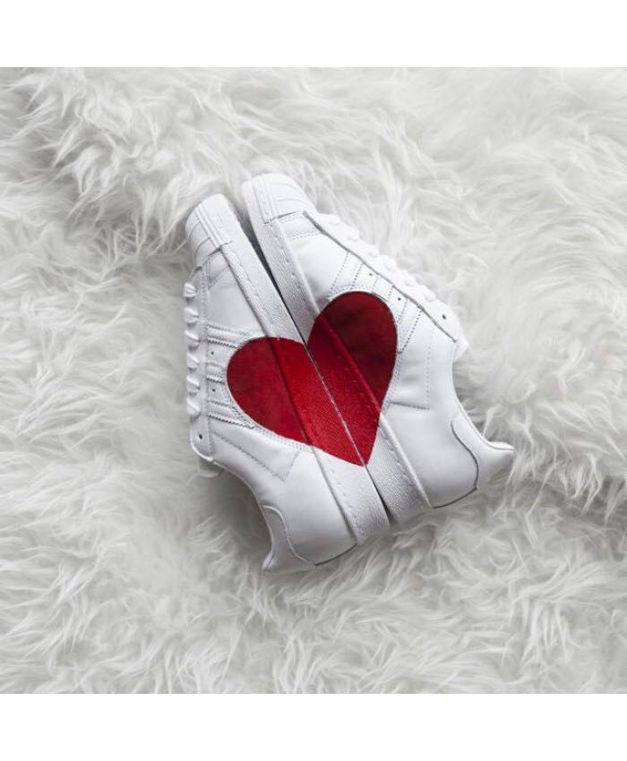 1481e2332c7234 PO  Adidas superstar 80s half heart white red scarlet shoes ...