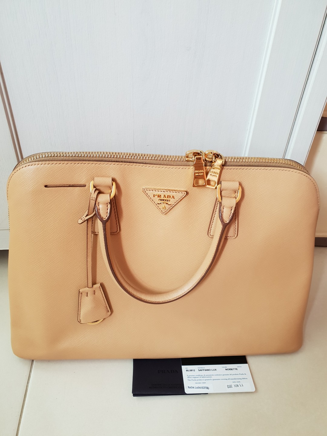 a61800ab327c Prada Saffiano Lux Bag Authentic (Winter Edition), Luxury, Bags & Wallets,  Handbags on Carousell
