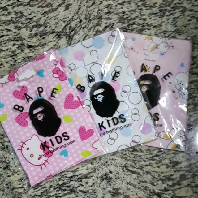 82466e5ef Price Reduced Branded Bape Brand New In Bag Authentic Bathing Ape Kids  Bandana Baby Dribble Scarf 3 Designs